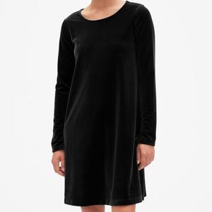 GAP Long Sleeve Velvet Swing Dress